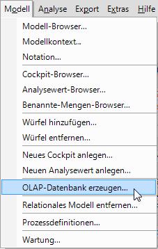 OLAP Datenbank erzeugen