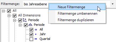 Neue Filtermenge