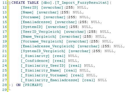 Vorschlag Tabellenstruktur