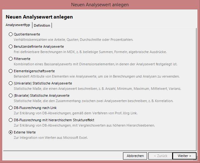 Abbildung 4 Analysewert-Browser