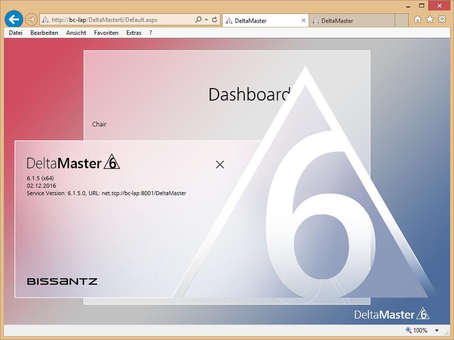 Abbildung 11 DeltaMaster Weboption - Service 1