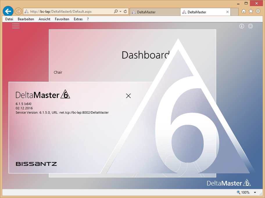 Abbildung 12 DeltaMaster Weboption - Service 2