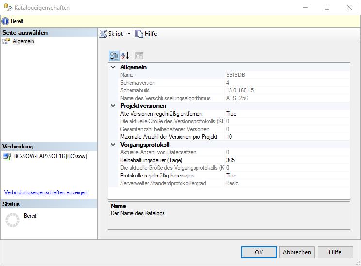 SSIS_Katalogkonfiguration