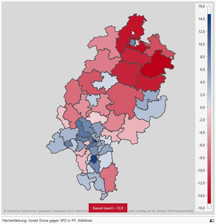 Grüne minus SPD in PP