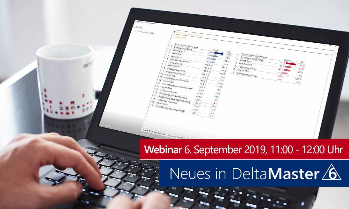 Webinar: Neues in DeltaMaster 6.2.7 am 06.09.2019