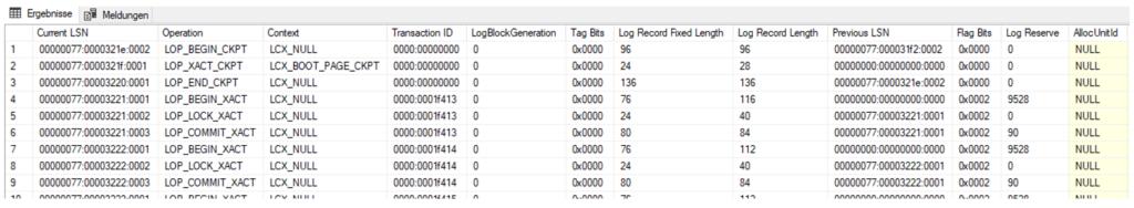 Abfrage des SQL-Server-Transaktionsprotokolls zur Änderungsüberwachung