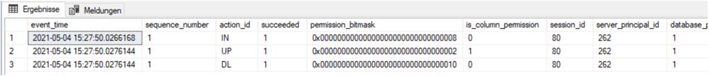 SQL Server Audit - Abfrage des Überwachungsprotokolls