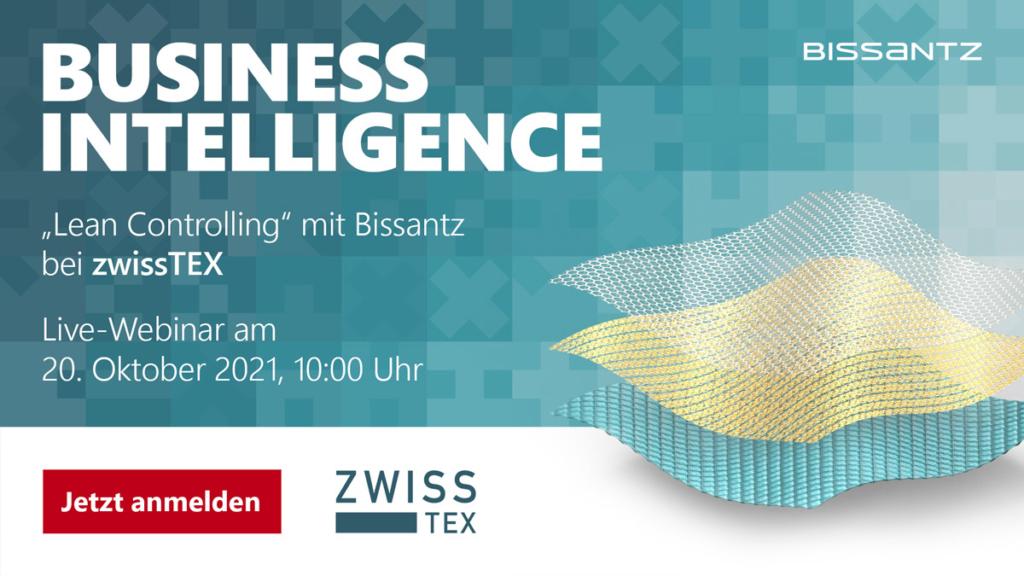 """Business Intelligence zur Umsetzung des """"Lean Controlling"""" bei zwissTEX - Webinar am 20. Oktober 2021"""