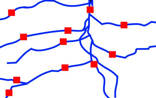 Grobe Skizze als Ausgangspunkt für ein Shapefile