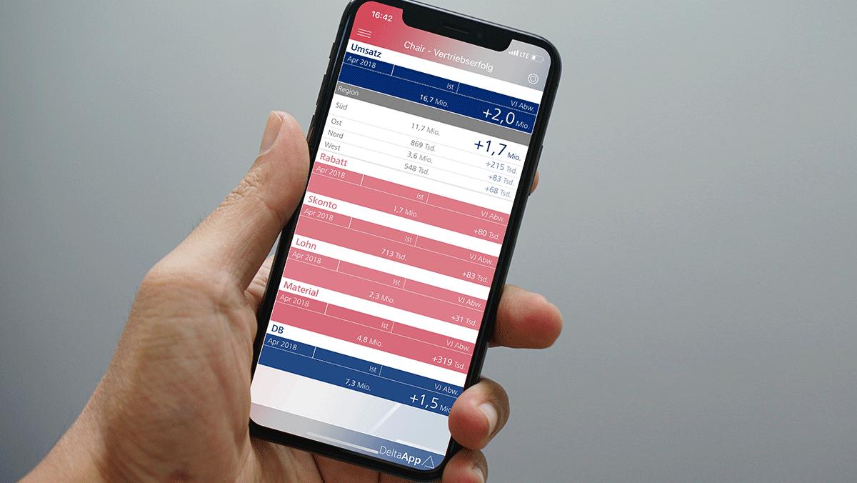 DeltaApp auf dem iPhone
