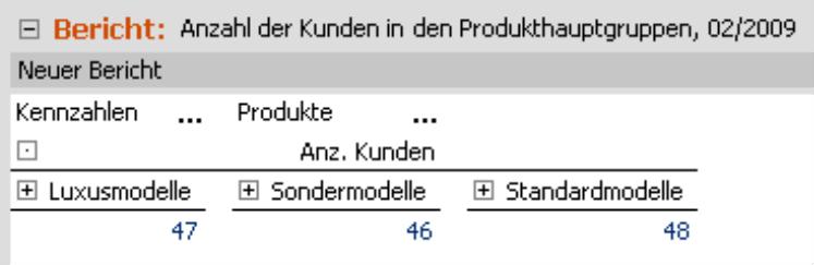Bericht zur Ermittlung der Kundenzahlen pro Produkthauptgruppe