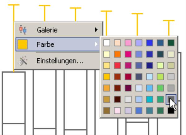 Auswahl der Farbe für die Antennen