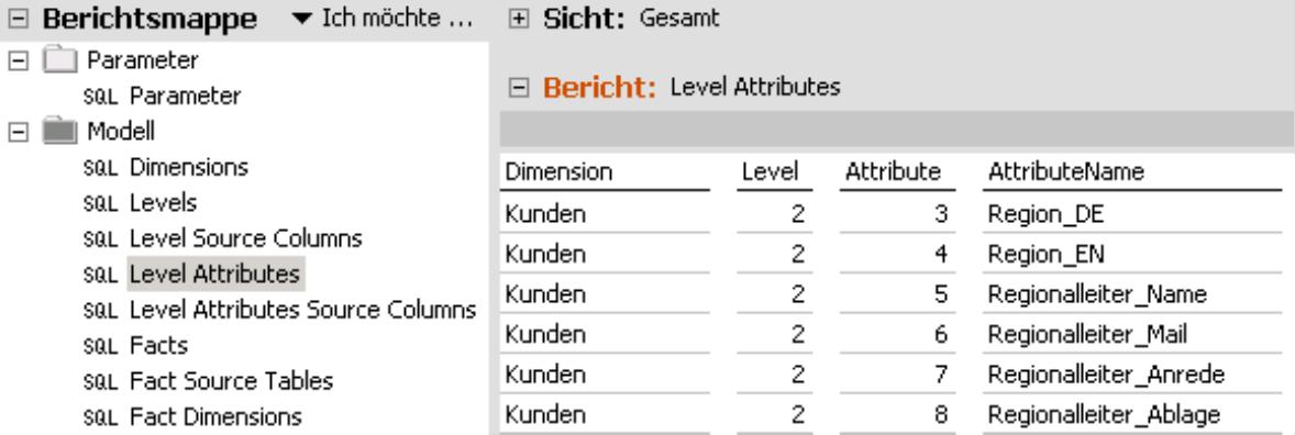 Level Attributes im DeltaMaster Modeler