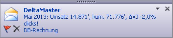 Desktopbenachrichtigung von Outlook
