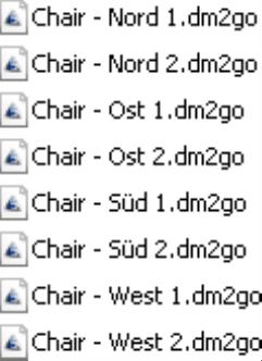 automatisch erstellte DM2GO-Dateien