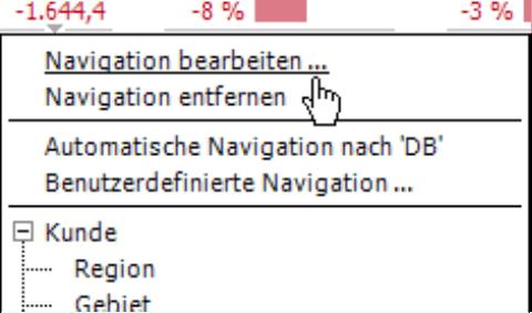 Navigation bearbeiten
