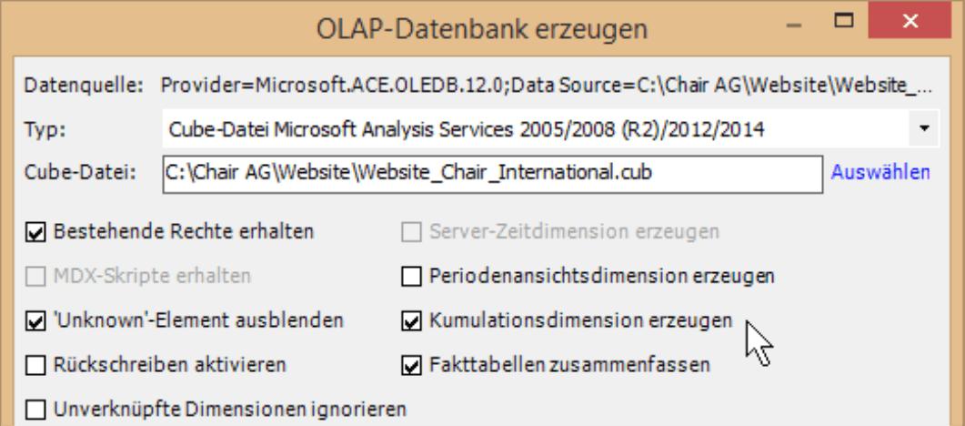 OLAP-Datenbank erzeugen mit DeltaMaster CubeWizard
